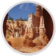 Tunnel In Bryce Round Beach Towel