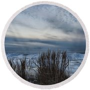 Tunnel Park Through The Grass Holland Michigan Round Beach Towel