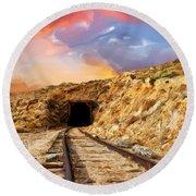 Tunnel Vision Round Beach Towel