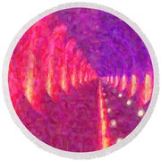 Tunnel Vision Round Beach Towel by Kenny Francis