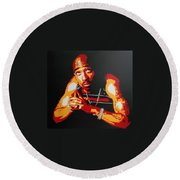 Tupac Pray For A Brighter Day Round Beach Towel
