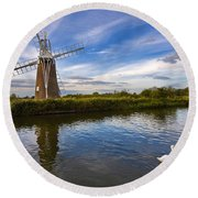 Turf Fen Drainage Mill Round Beach Towel