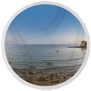 Turkey Side Panorama Round Beach Towel by Antony McAulay