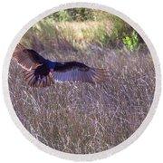 Turkey Vulture 2 Round Beach Towel