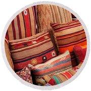 Turkish Cushions 02 Round Beach Towel
