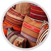 Turkish Cushions 03 Round Beach Towel