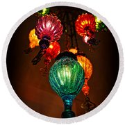 Turkish Lights Round Beach Towel