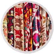 Turkish Textiles 02 Round Beach Towel