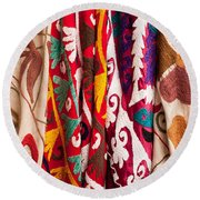 Turkish Textiles 04 Round Beach Towel