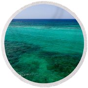 Turks Turquoise Round Beach Towel by Chad Dutson