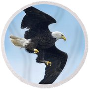 Turnabout Round Beach Towel
