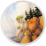 Turnagain Rocks Round Beach Towel