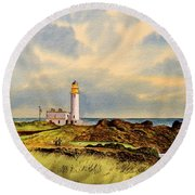 Turnberry Golf Course 9th Tee Round Beach Towel