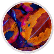 Turning Leaves 5 Round Beach Towel by Stephen Anderson