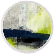 Turning Point - Contemporary Abstract Painting Round Beach Towel