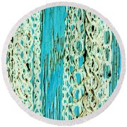 Turquoise Chained Round Beach Towel