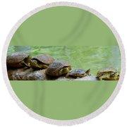 Turtle Ninjas Round Beach Towel