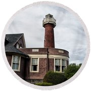 Turtle Rock Light House In Philly Round Beach Towel