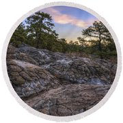 Turtle Rocks Atop Petit Jean Mountain - Arkansas Round Beach Towel