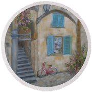 Tuscan Delight Round Beach Towel by Mohamed Hirji