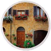 Tuscan Homes Round Beach Towel