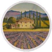 Tuscan Lavender Round Beach Towel