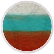 Tuscan Round Beach Towel by Linda Woods