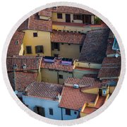 Tuscan Rooftops Round Beach Towel