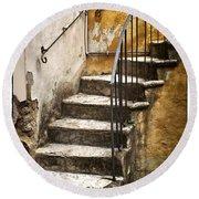 Tuscan Staircase Round Beach Towel