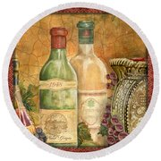 Tuscan Wine-a Round Beach Towel