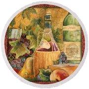 Tuscan Wine-c Round Beach Towel