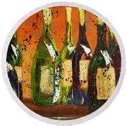 Tuscan Wine Round Beach Towel