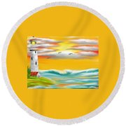Tuscany Sea Round Beach Towel