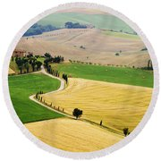 Tuscany Summer Round Beach Towel