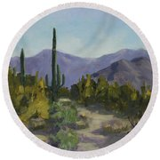 The Serene Desert Round Beach Towel