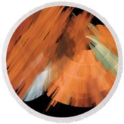 Tutu Stage Left Peach Abstract Round Beach Towel
