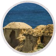 Twelve Apostles Overlook Round Beach Towel