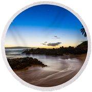 Twilight Beach - Beautiful And Secluded Secret Beach In Maui. Round Beach Towel