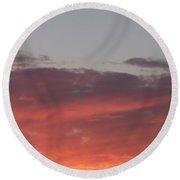 Twilight Clouds Round Beach Towel