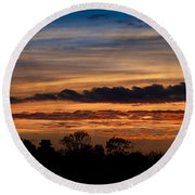 Twilight Colorful Sunset Round Beach Towel