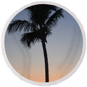 Twilight In Fort Myers Round Beach Towel