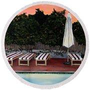 Twilight Round Beach Towel