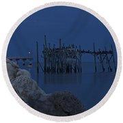 Twilight On The Gulf Round Beach Towel