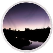 Twilight Over Tuolumne. Round Beach Towel