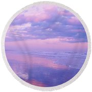 Twilight Reflection Cape May Round Beach Towel