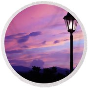 Twilight Time Round Beach Towel