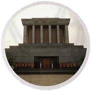 Twilit Ho Chi Minh Mausoleum Round Beach Towel