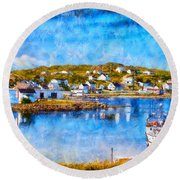 Twillingate In Newfoundland Round Beach Towel