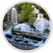 Twin Falls South Carolina Round Beach Towel