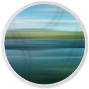 Twin Lakes Round Beach Towel